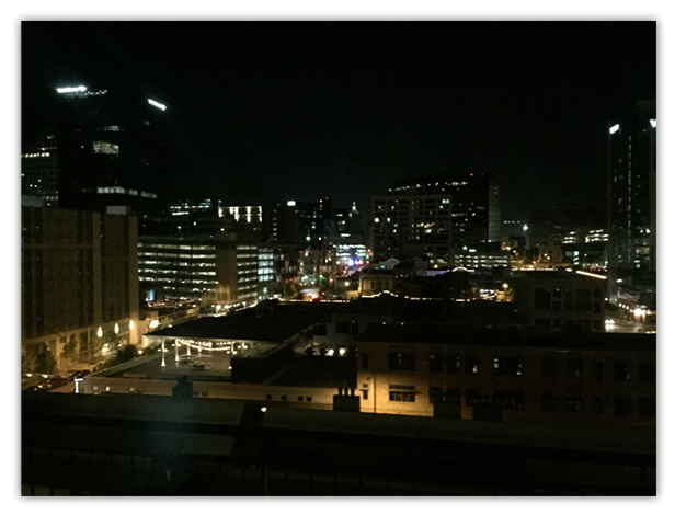 My view of downtown Austin as I finish writing this post.