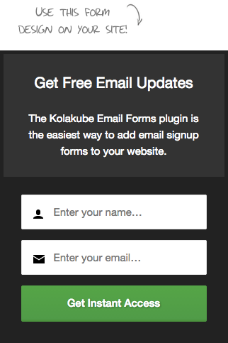 Design your email form